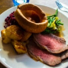 Sunday Roast, with vegetarian option available, at the Godolphin Arms in Marazion