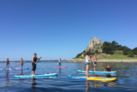 Stand up paddle boarding with Ocean High in Mount's Bay