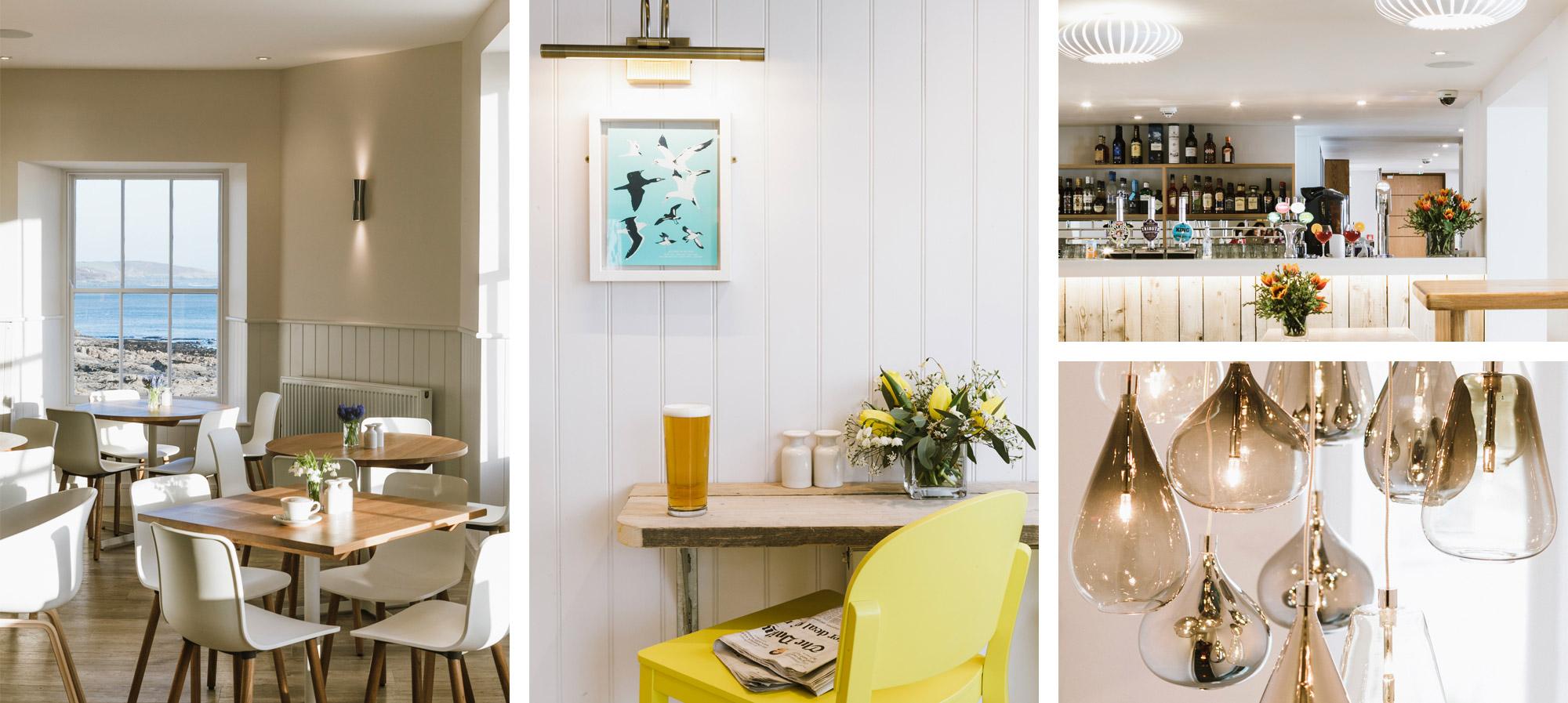 Godolphin Arms interior including the restaurant & Beach Bar