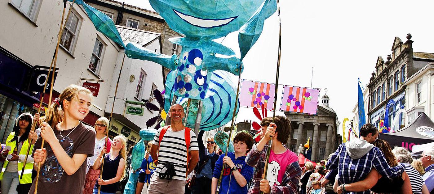Mazey Day Parade through Market Jew Street, Penzance