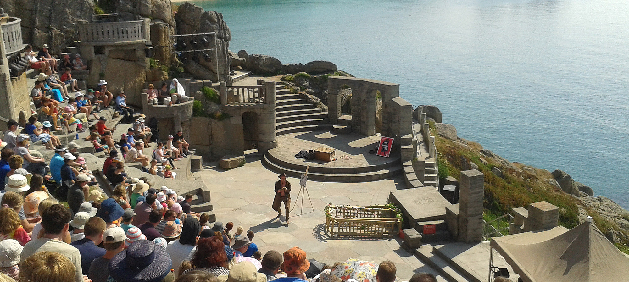 Catch a play at the open air Minack Theatre in Porthcurno
