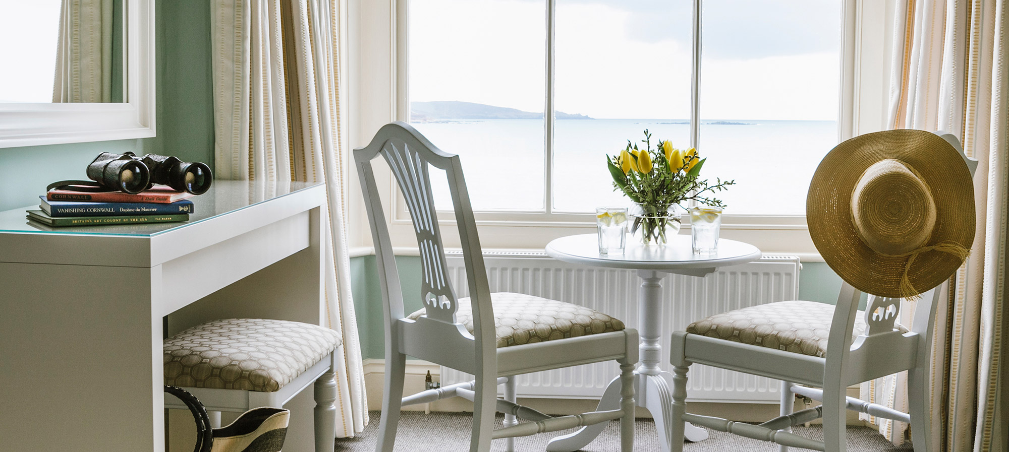 Sea view room in Marazion looking out to the Lizard Peninsula